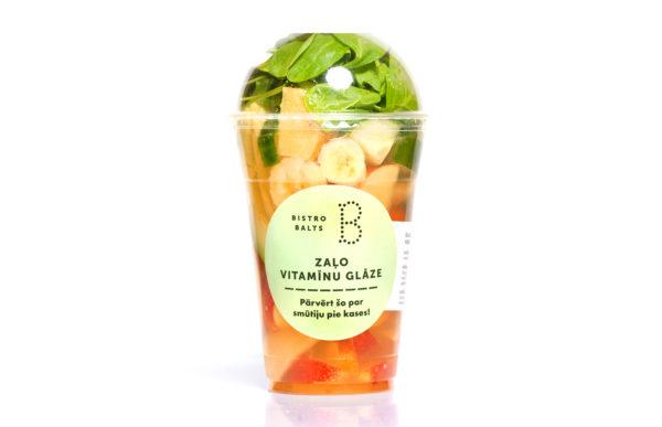 Smūtijs zaļo vitamīnu glāze