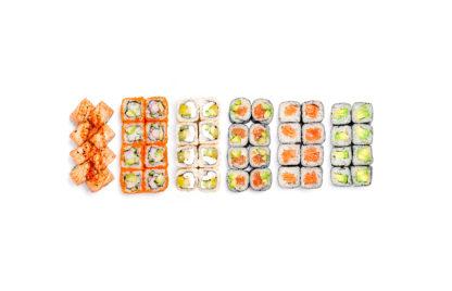 Lielais krāsu suši komplekts