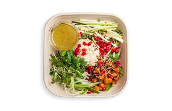 Humusa salāti citronu mērcē